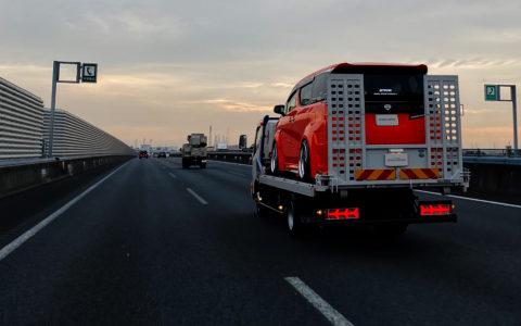 NIGHT STAR トラック用 3連テールサイズ ランボスタイル ファイバーLEDテールランプ【クリアータイプ】