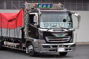 ナイトスター トラック 日野 プロフィア/レンジャー プロジェクターLEDヘッドライト【ブラックタイプ】アートトラック ダンプ 積載車