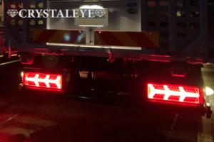 ナイトスター トラック用 ランボスタイルLEDテールランプ【クリアータイプ】カミオン トラック野郎