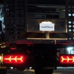 積載車 ユーロタイプ3連ファイバーLEDテールランプ交換装着例